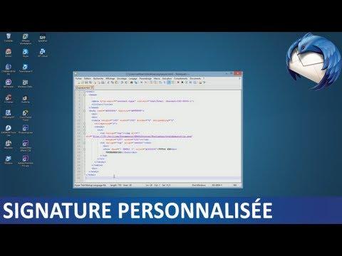Thunderbird | Créer une signature personnalisée