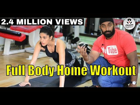 No Gym Full Body Workout For Women in Hindi | Fitness Fighters