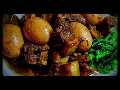 Pork Adobo with Boiled Eggs / Luweeh's Kitchen