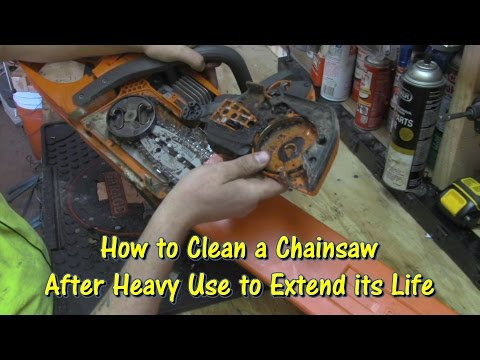 How to Clean a Chainsaw by @GettinJunkDone