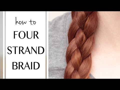 Four Kinds of Four Strand Braids, and How to Do Them on Yourself!