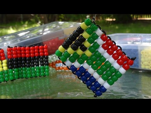 TurboBeads: South Africa Bead Flag Tutorial