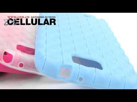 Flexible Bumpy Grid TPU Case for Samsung N7100 Galaxy Note II