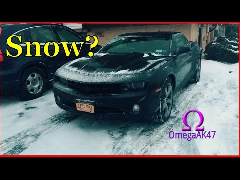5 Reasons why I'm driving my Camaro in the Snow! | RWD in Snow!