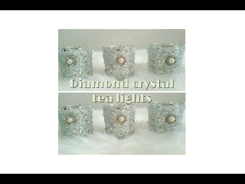 DIY| BLING TEA LIGHT CANDLE HOLDERS/ BRIDAL SHOWER, WEDDING, HOME DECOR