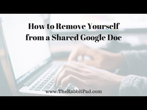 How to Remove Yourself from Shared Google Doc