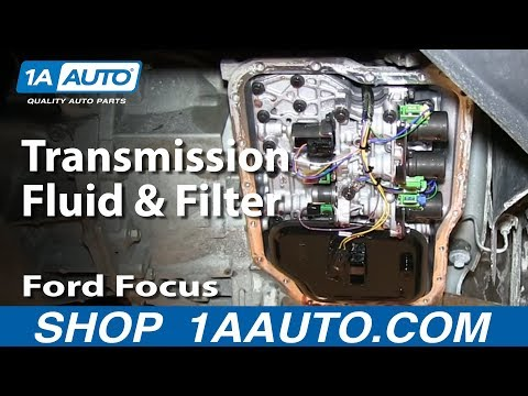 How To Service Change Transmission Fluid and Filter Ford Focus