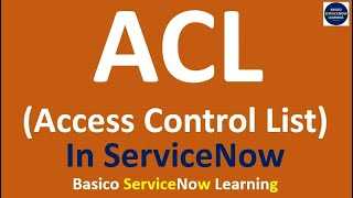 Creating a List View Filter Using an ACL - ServiceNow - Vidly xyz