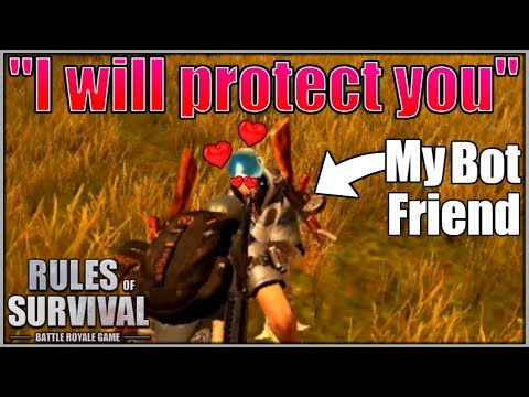 WE HELPED A BOT WIN A GAME IN Rules of Survival! // Protect the Bot Challenge!