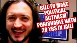 URGENT: Congress Considering Bipartisan Bill To Make Political Activism A Felony!