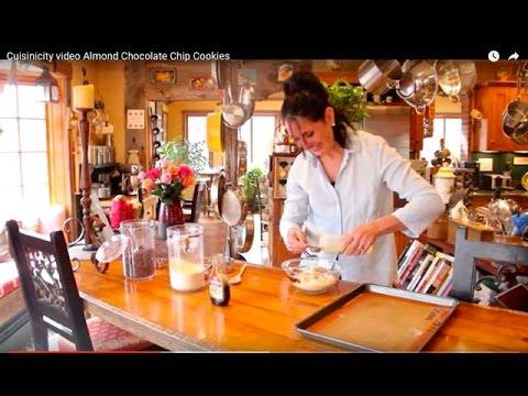 Cuisinicity video Almond Chocolate Chip Cookies