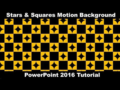 Squares and Stars | Animated Motion Background in PowerPoint 2016