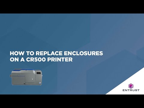 How To Replace Enclosures On A CR500 Printer