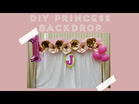 DIY Princess Backdrop (set-up time lapse)