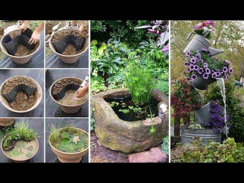 Low Budget DIY Mini Ponds In a Pot