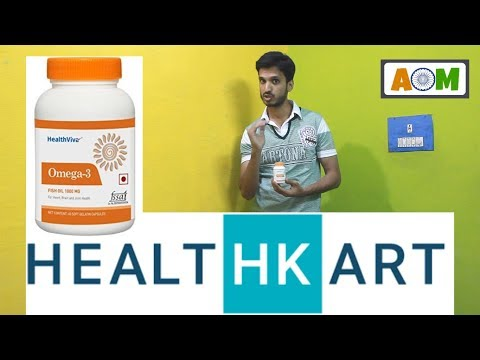 Omega 3 Benefits and Unboxing Healthviva Capsules from HealthKart (Hindi)