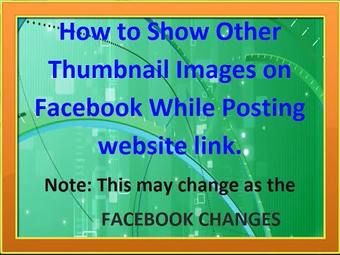 How to change featured image thumbnails when posting to facebook