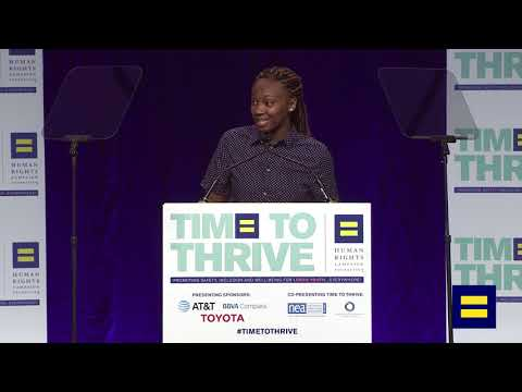 HRC Youth Ambassador Makayla Humphrey Speaks at 2018 Time to Thrive LGBTQ Conference