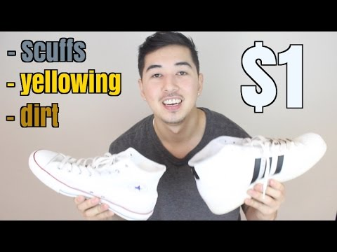 HOW TO: KEEP YOUR SNEAKERS WHITE FOR $1 !!!