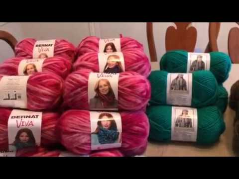 Dollar Tree Yarn Haul Video #45:  Bernat and Caron Yarn $1 Each