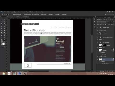 Background patterns for web templates in Photoshop -Tutorial