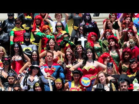 Huge DC cosplay gathering at San Diego Comic-Con 2014 SDCC - Outside the Magic