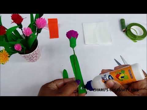 How to make flower with crepe paper....