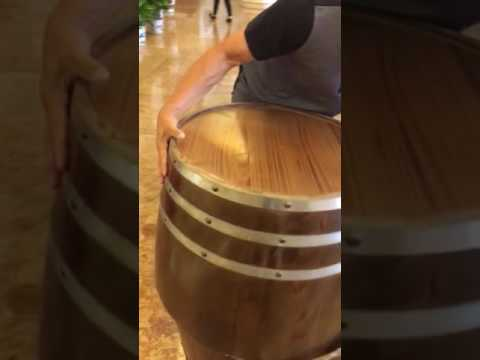 CSP wine barrels table base