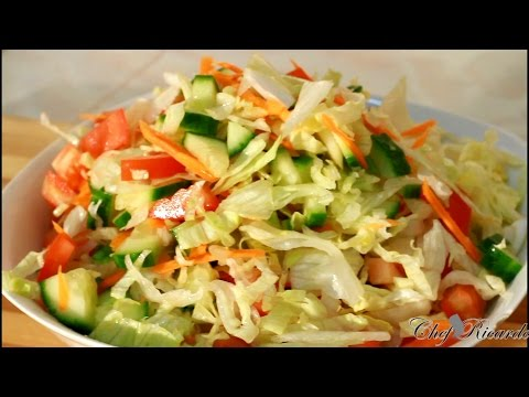 Fresh Home Made Salad- (Caribbean & Jamaican Salad) | Recipes By Chef Ricardo