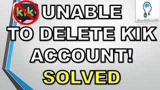 How To Delete A Kik Account 2015
