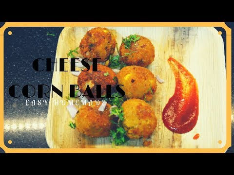 Cheese corn balls//Quick and Easy party starter(snack)//Easy recipe