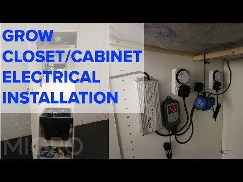 Closet grow build #3 - Electrical installation
