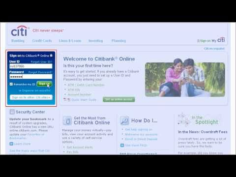 Citi QuickTake Demo: Getting Started with Citibank Online