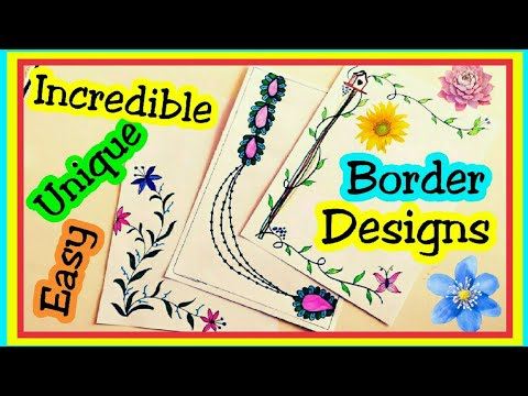Border Designs On Paper Border Designs Project Design File