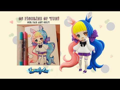 Lovely4u   VO5   8 Min double colored hair girl   DIY  Clay Tutorial   Yuniiho oc fan art