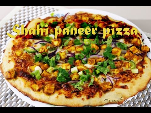 Shahi paneer pizza by crazy4veggie.com