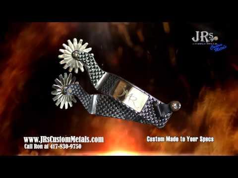 JRs Custom Metal Rasp Spurs 2015