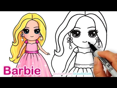 How to Draw Barbie Cute Step by step Draw So Cute Girl