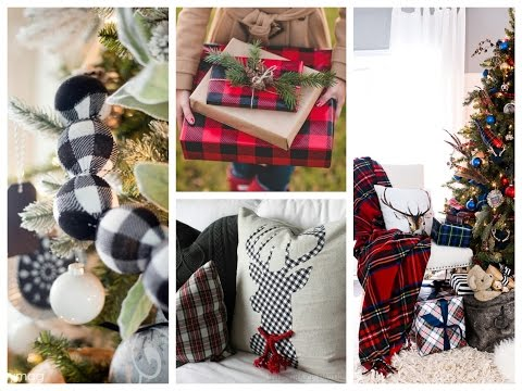 Plaid Winter Decorating Ideas - Christmas Plaid Decorations - Classic Tartan Christmas Inspirations