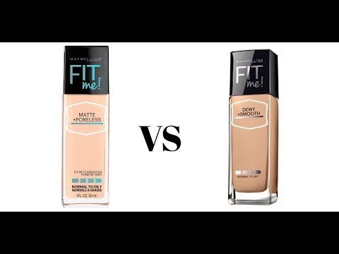Maybelline Fit Me Foundation -  Matte and Poreless vs Dewy and Smooth