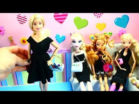 DIY DOLL CLOTHES: 👗 👚 5 Easy DIY No-Sew Doll Dresses / Gowns - DIY Barbie Clothes