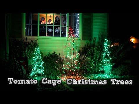 DIY Christmas Decorations - Tomato Cage Christmas Tree