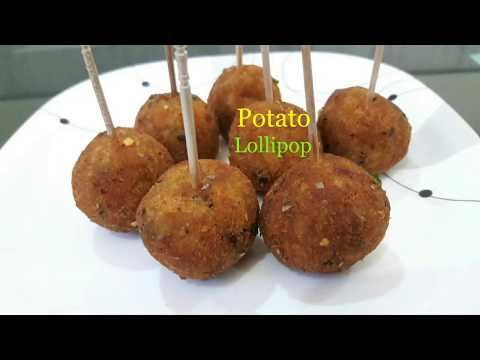 Potato Lollipop Recipe[in hindi]/Easy evening tea snack recipe/Veg party starter