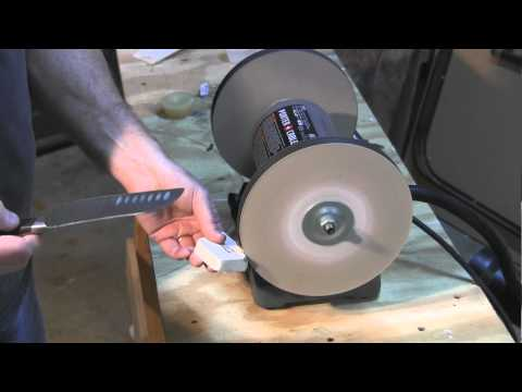 Do you want Razor Sharp knives. I'll show you how using a new product and a bench grinder
