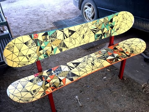 How To Build A Bench Out Of Old Snowboards