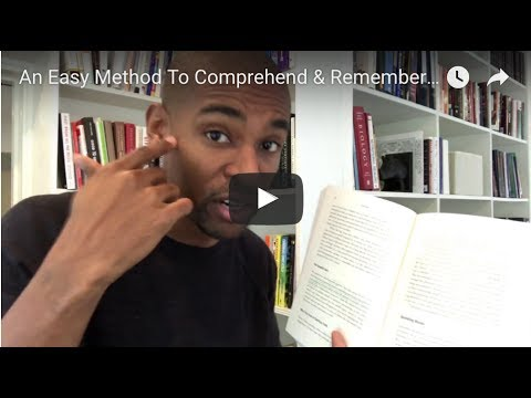 An Easy Method To Comprehend & Remember The Books You Read