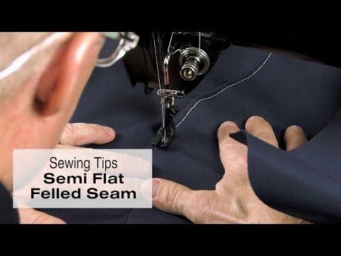 Sewing a Semi Flat Felled Seam - 4 Top Tips
