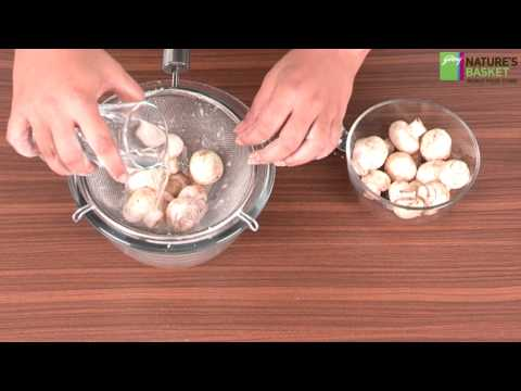 How To Clean Fresh Button Mushrooms by Godrej Nature's Basket
