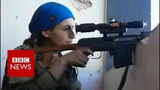 Female Kurdish sniper cheats death at hands of IS- BBC News