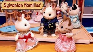 Кто живёт с кроликом Марией? Все серии подряд. Мультик с игрушками Sylvanian Families   обзоры